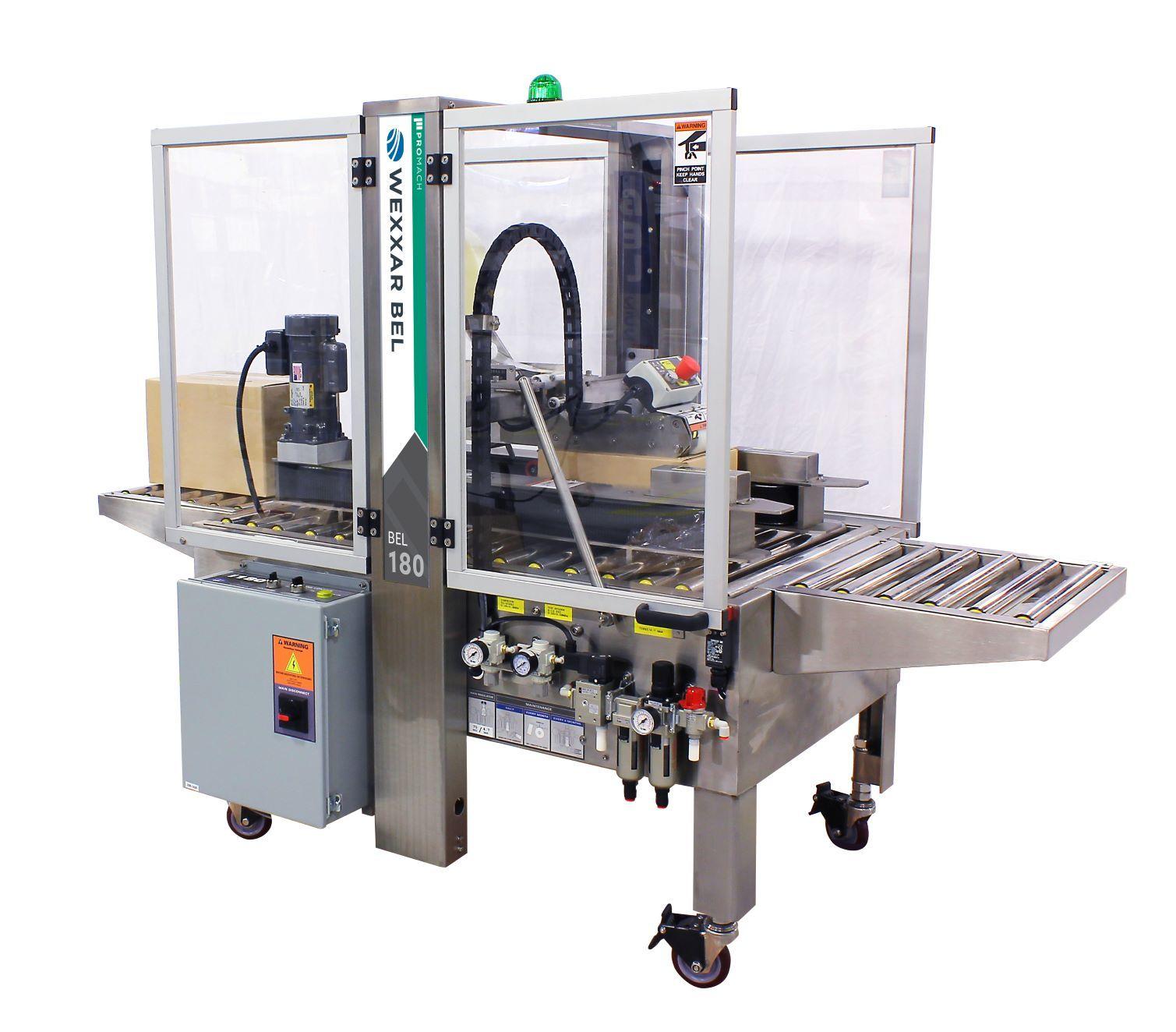 BEL 180 - Semi-Automatic Random Case Taper - Pressure Sensitive Tape Case Sealing Equipment
