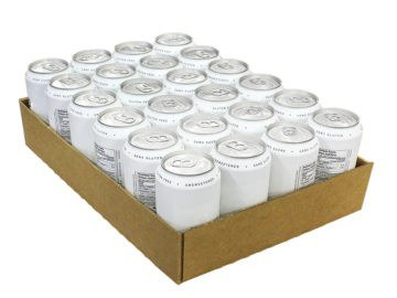 Cans in tray